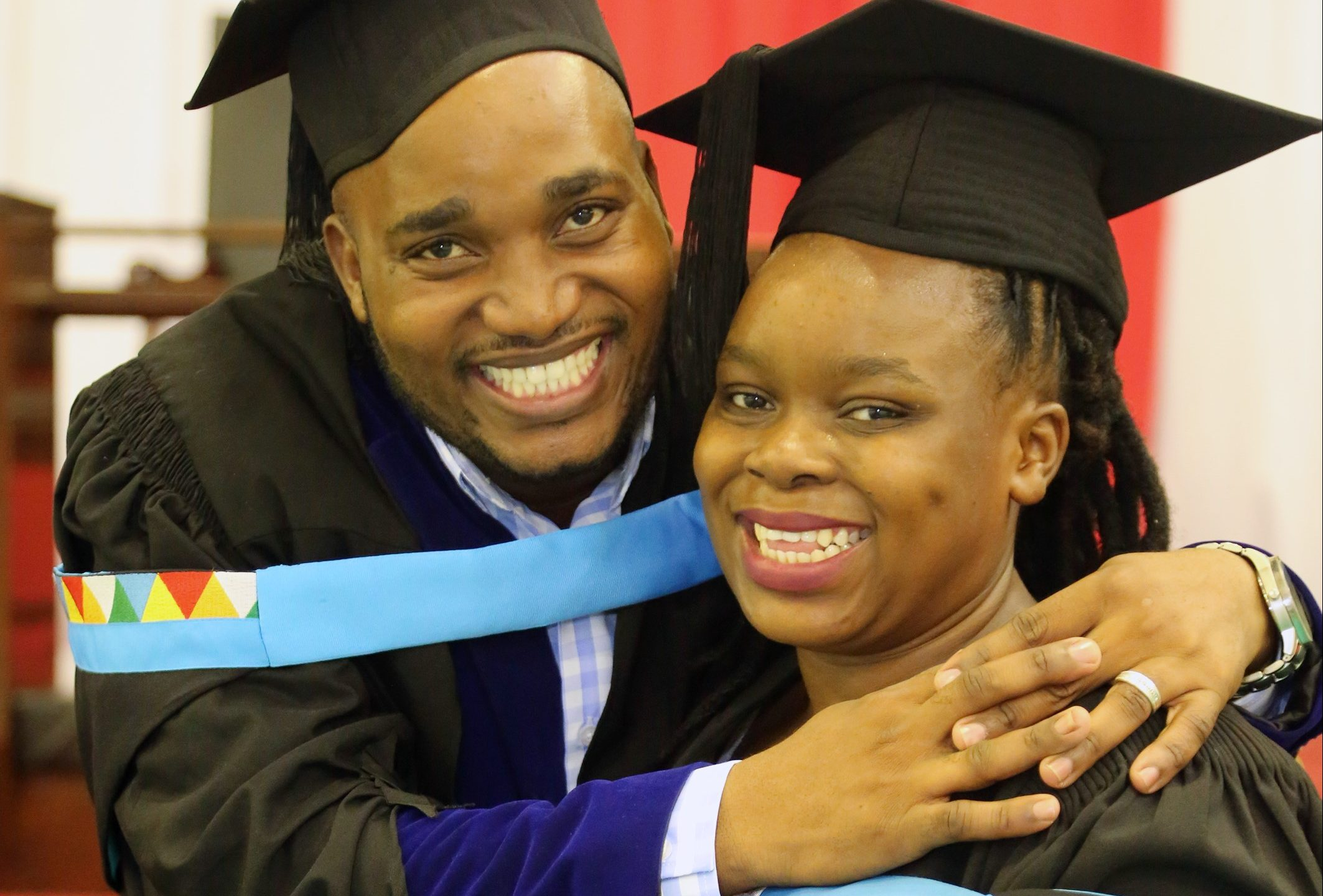 Mr Sanele Gamede and his wife Phetsile graduated from UKZN