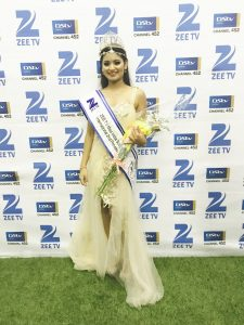 Second princess at Miss India South Africa International 2017, Ms Kiara Rampaul.