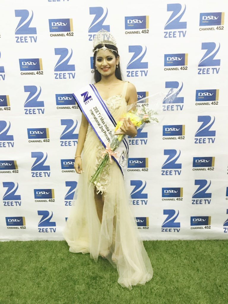 Student Crowned 2nd Princess at Miss India South Africa International 2017