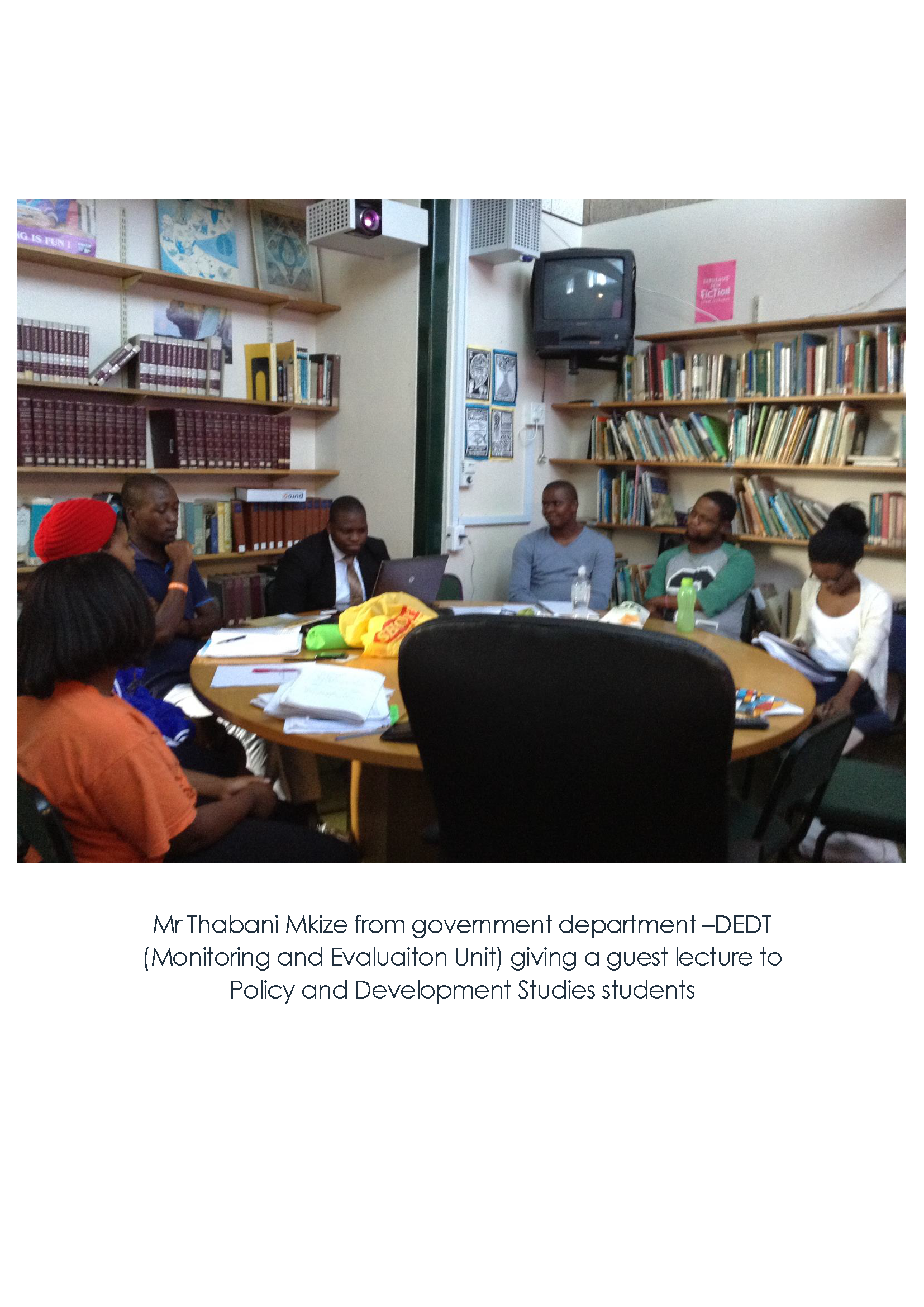 Policy and Development Studies guest lecture by Mr Thabani Mkize (Government Department –DEDT)
