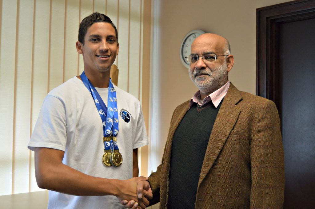 Humanities Student Excels at Swimming, Wins gold at SA Championships