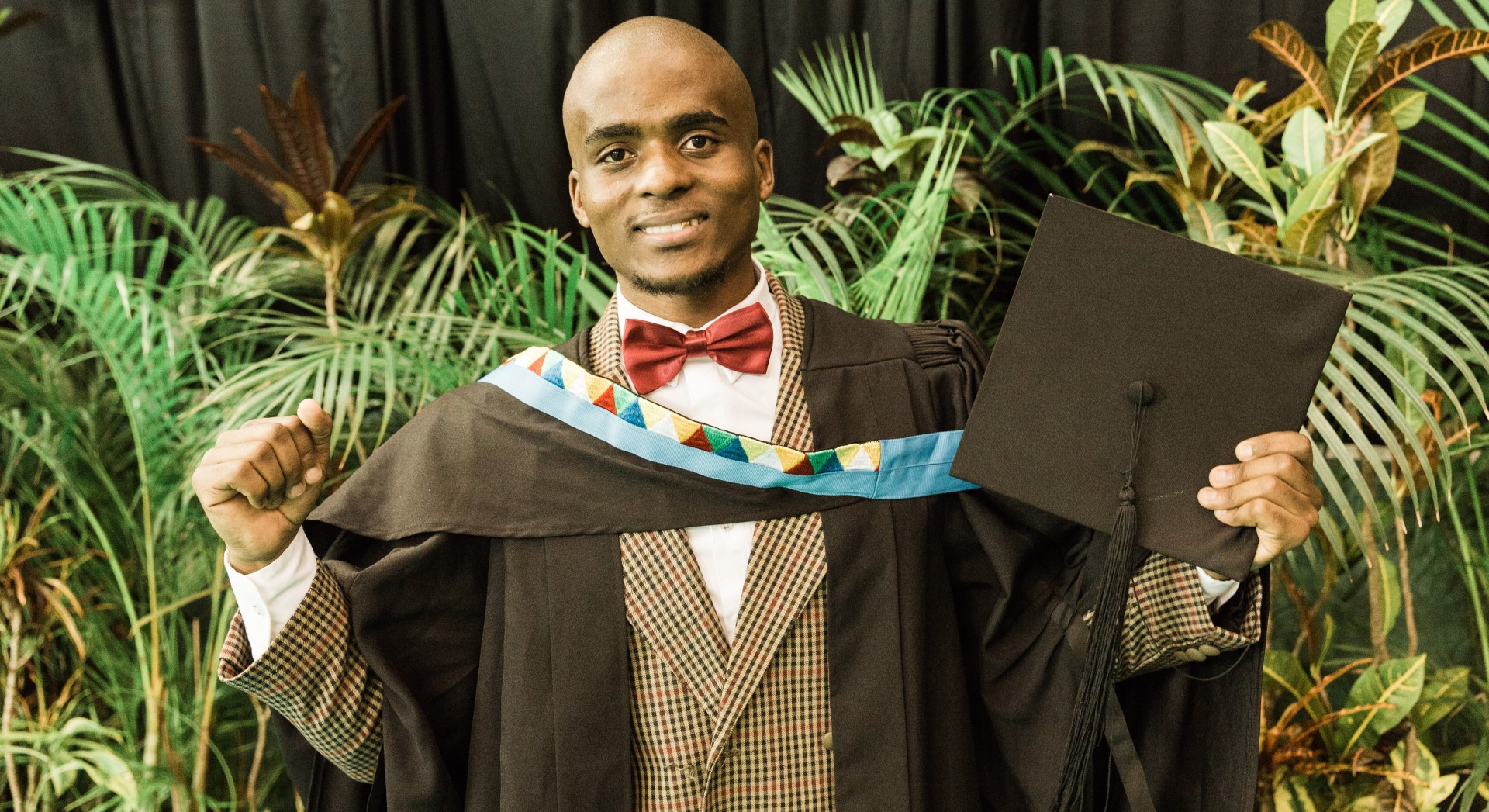 Mr Khethani Njoko recently, a Bachelor of Social Sciences graduate.