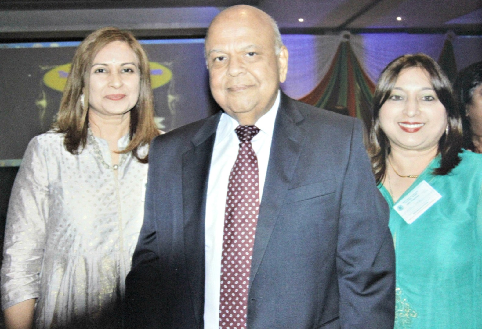 At the celebration are Minister of Public Enterprise Mr Pravin Gordhan with UKZN's Dr Gerelene Jagganath (left) and Professor Shanta Balgobind Singh.