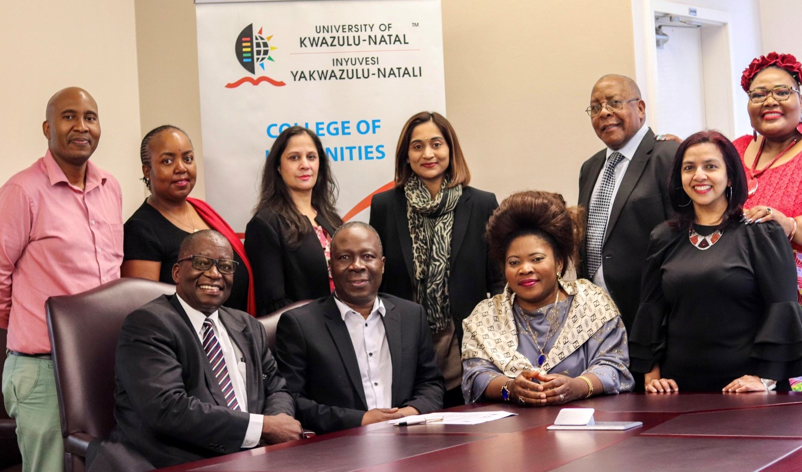Representatives from UKZN and the University of Botswana